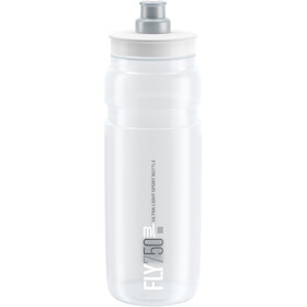 Elite Fly Bidon 750ml, clear/grey logo